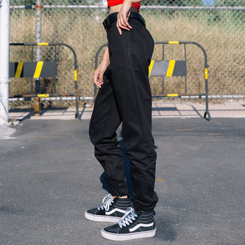 Womens Straight Loose Black Overalls Trousers Spring Outdoor Sports Camping Training Climbing Breathable Drawstring Army Pants