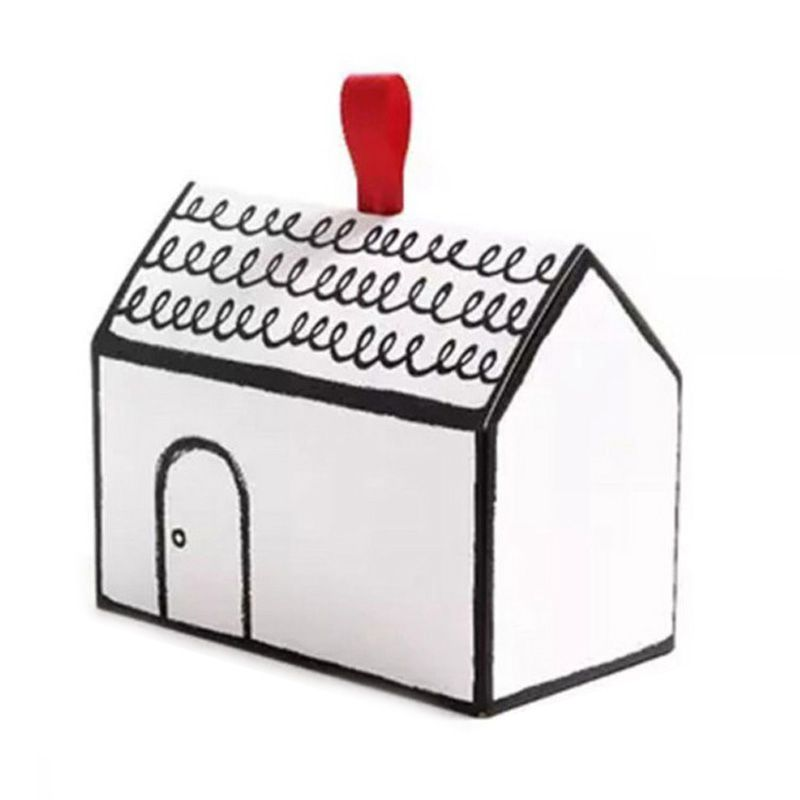20pcs Hand-painted Small House Paper Candy <font><b>box</b></font> cookies <font><b>packaging</b></font> <font><b>box</b></font> nougat baking <font><b>packaging</b></font> <font><b>gift</b></font> <font><b>box</b></font> with ribbon tag <font><b>big</b></font> image