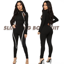 2019 New Workout clothes for women striped mesh stitching Yoga Sets Black Sport jumpsuit Quick Dry Fitness gym Jumpsuits