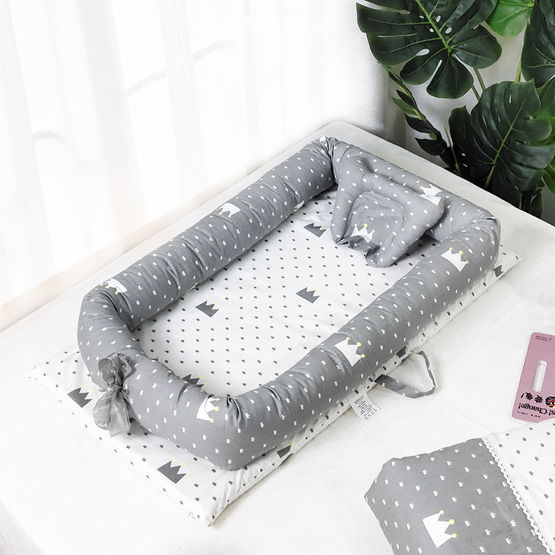 Baby Cribs Cotton Portable Baby Bed Removable Newborn Sleep Sack Infant Travel Cradle Crib Multi-function Infant Folding Bed