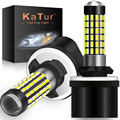 Katur 2 шт. H27W/1 880 светодиодные лампы, противотуманный светильник s для автомобилей, светодиодная противотуманная фара 78SMD 3014, автомобильный ист...