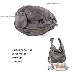 Image 3 - Большая мягкая повседневная женская сумка CEZIRA, школьная сумка из искусственной кожи для девушек, сумка мессенджер с регулируемой плетеной пряжкой и плечевым ремнем