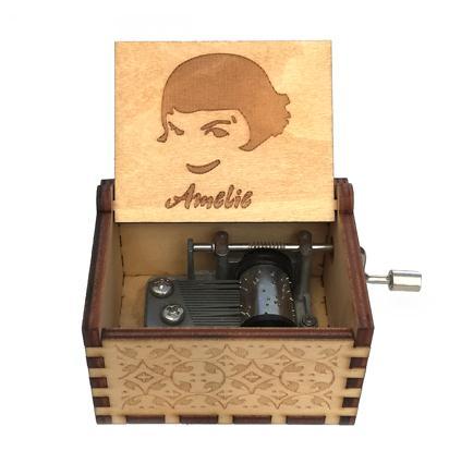 Прямая поставка, черная деревянная музыкальная шкатулка, игра в трон, Caja, музыкальная Zelda, ручная работа, Деревянная Музыкальная Коробка, рождественский подарок - Цвет: Amily