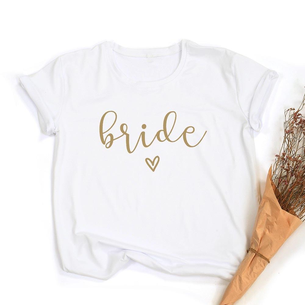 Team Bride Print Women Short Sleeve T Shirts Bachelorette Wedding Party Graphic T-shirt Harajuku Tshirt Female Tees Tops Hipster 3