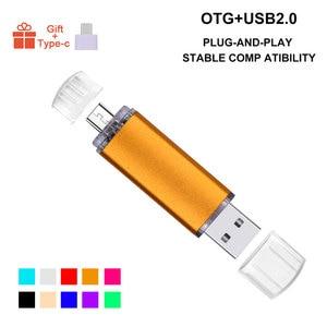 Image 2 - Custom LOGO Metal Multicolor OTG USB Flash Drive Pen Drive 4gb 8gb 16gb 32gb 64gb Pendrive 3 in 1 Stick for Smart Phone/PC Gifts