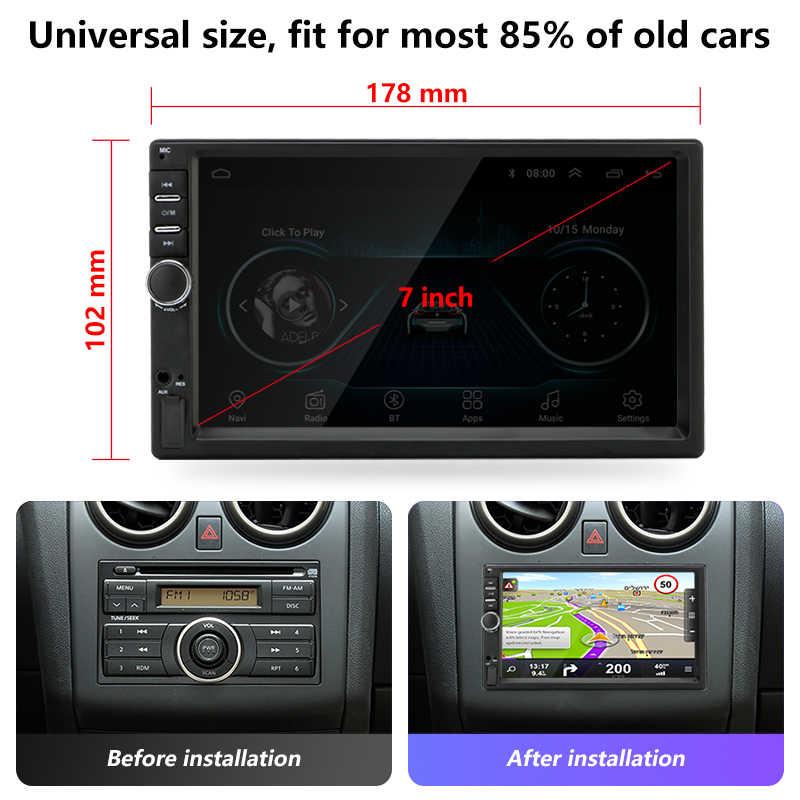"""Android Phát Thanh Xe Hơi 2 Din 7 """"Đa Phương Tiện Đa Năng Tự Động phát thanh GPS Liên Kết Xe Volkswagen Nissan TOYOTA Honda + ISO Cáp"""