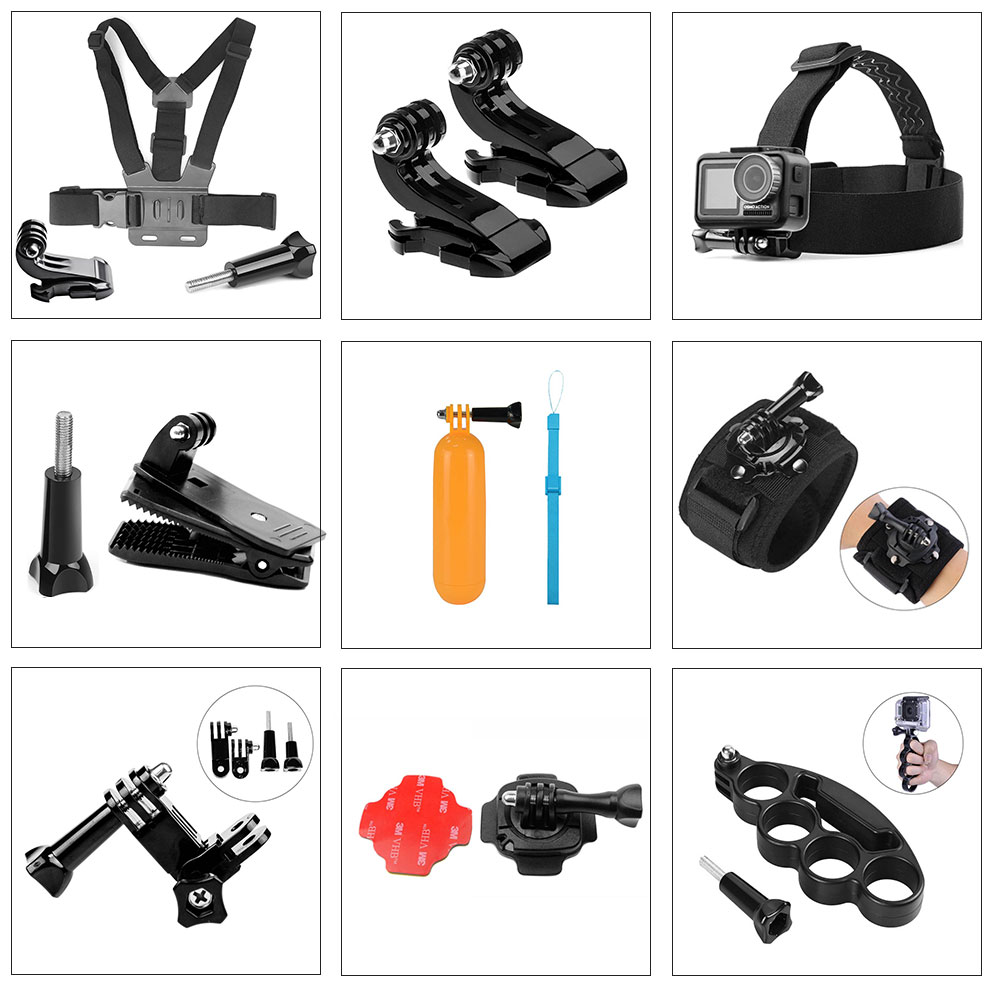 Go Pro Accessories For Gopro Hero7 6 5 4 3+ Sport Action Camera Chest Head Hand Wrist Strap For Xiaomi Yi 4k Eken Car Supction