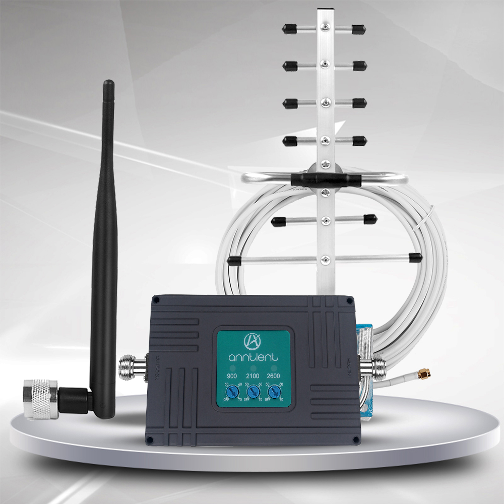 Mobile Phone Signal Booster for Home - 900/2100/2600MHz Band 8/1/7 2G 3G 4G Cell Phone Repeater Amplifier - Boost Voice and Data