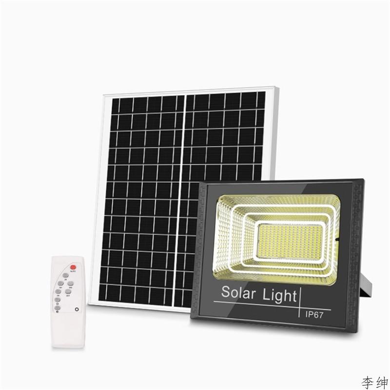 IP67 LED Solar Light Night Super Bright Spotlight Wireless Outdoor Waterproof Night Lamp Powered Lamp Remote Control Fixtures