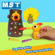 Catching Magnet Game Worms Educational-Toys Early-Learning Woodpecker Kids Bird