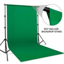 Fundo de fotografia pano de fundo liso musselina algodão tela verde chromakey cromakey pano de fundo para estúdio foto vídeo
