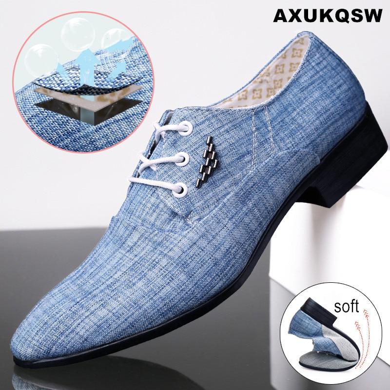 Affaires chaussures de mariage bout pointu toile hommes chaussures 44 à lacets chaussures de conduite hommes vêtements de cérémonie Oxford chaussures pour 2020 chaussures de danse