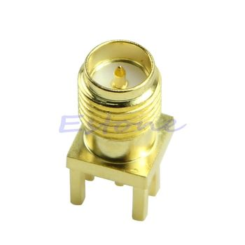2020 New Edge Mount PCB Board Receptacle RP SMA Male Jack Connector Adapter