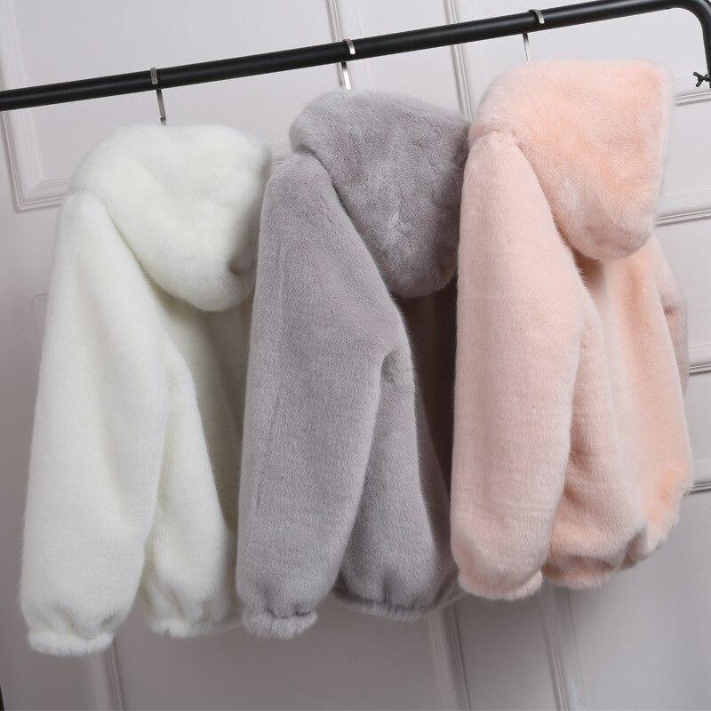 KCatsy Womens Jacket Coat Long Sleeve Faux Fur Fluffy Fleece Notch Collar Warm-up Outerwear Cardigan