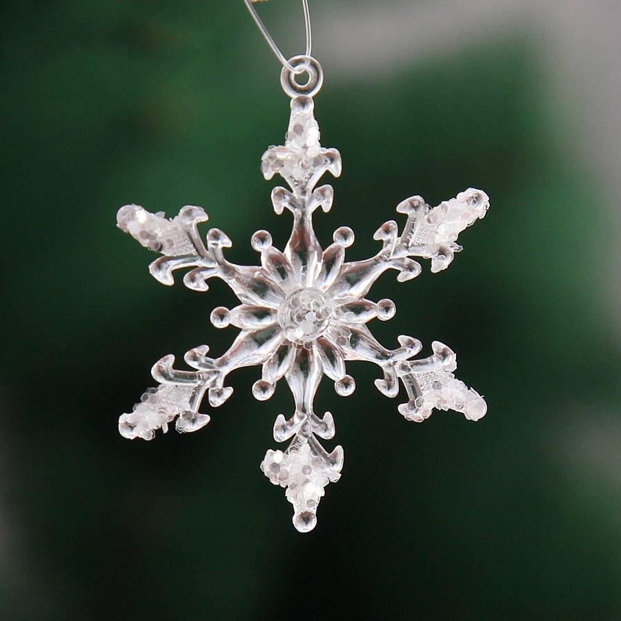 Рождество Снежинка Украшение Reine Des Neiges Navidad Замороженные вечерние зимние украшения, зимние украшения для дома