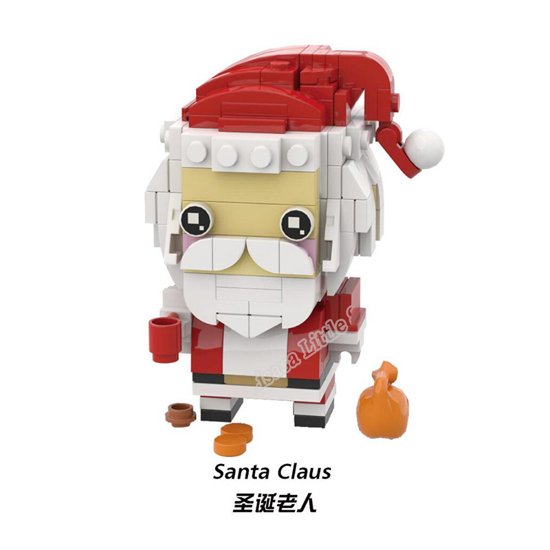 New Brickheadz Bell Beauty And The Beast Girl Friends Princess Creator Winter Legoinglys Christmas Tree Snow Toys For Children 3