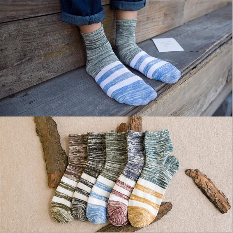5 Pairs Men Socks Solid Color Cotton Classical Businness Casual Socks Winter Excellent Quality Breathable Male Mid Sock