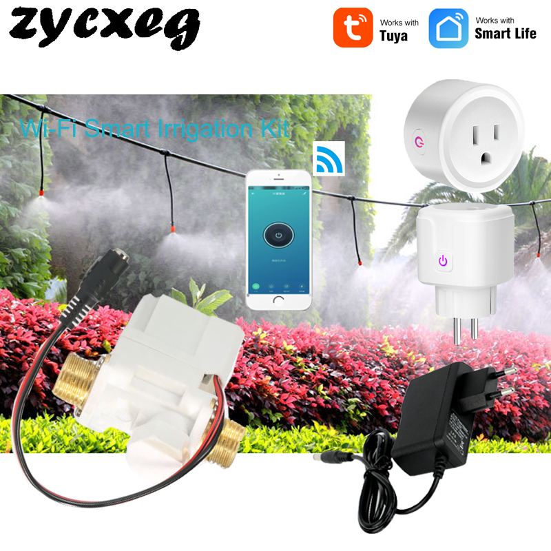 Tuya Wifi Mobile Phone Remote Control Watering Device Intelligent Auto Drip Irrigation System Garden Plant Water
