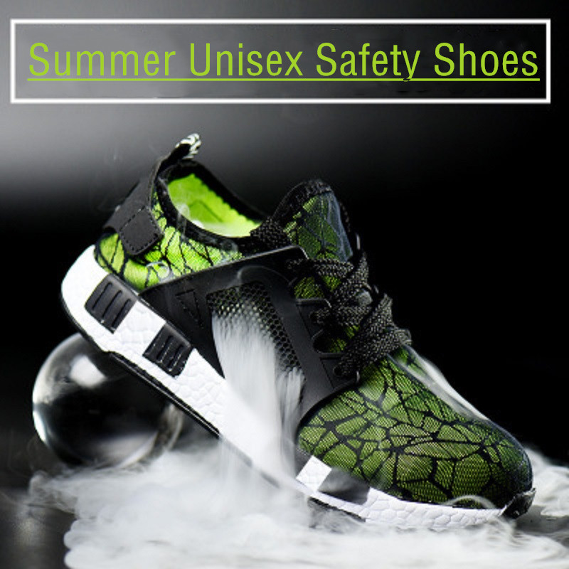 Superlight Safety Shoes Women Men Sports Working Footwear Steel Toecap Anti puncture EVA Sole Summer Breathable Safety Sneakers in Safety Shoe Boots from Security Protection