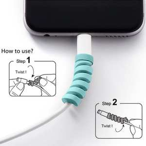 Protector Saver-Cover Charging-Cable Usb-Charger Cable-Cord-Adorable Apple Silicone New