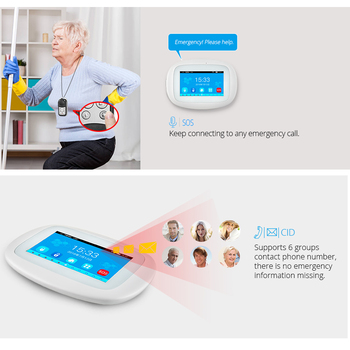 KERUI K52 Wireless Smart Home WIFI GSM Alarm System Smoke Fire APP Control Security  Door Sensor Detector Surveillance IP Camera 3