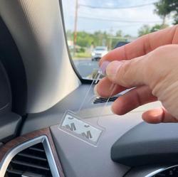 Adesivo pegador de bilhete de estacionamento, 2 peças, para chrysler aspen chupeta cruiser sebring cidade país