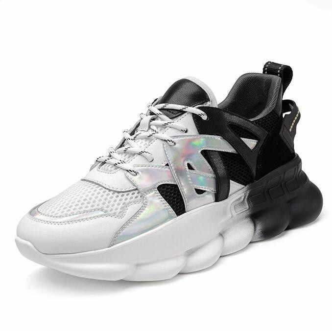 2020春のファッション分厚いスニーカー女性フラットカジュアルシューズプラットフォームレースアップ女性の靴zapatos mujer tenis feminino F22