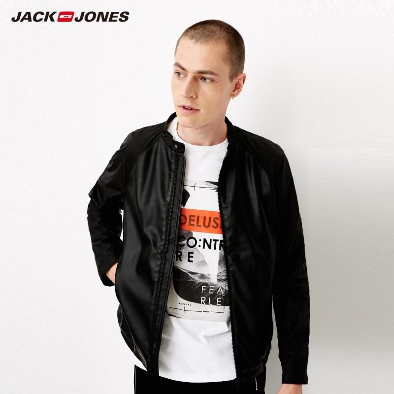 Chaqueta casual de manga larga con cremallera versátil para hombre de otoño JackJones 218321501-in Chaquetas from Ropa de hombre    2