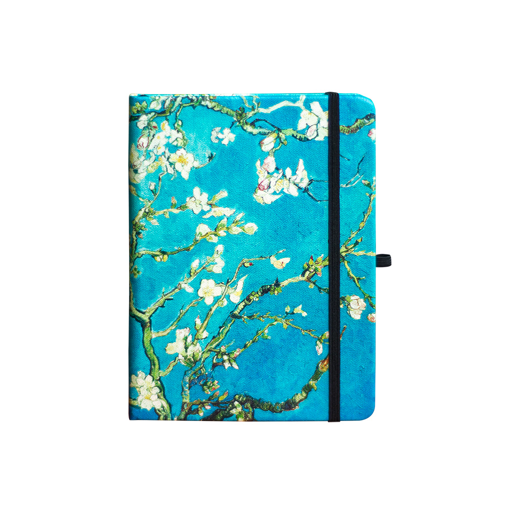 B6 Vincent Van Gogh Dotted Notebook Dot Grid Journal Hard Cover Blossoming Almond Tree 160gsm Planner Travel Diary
