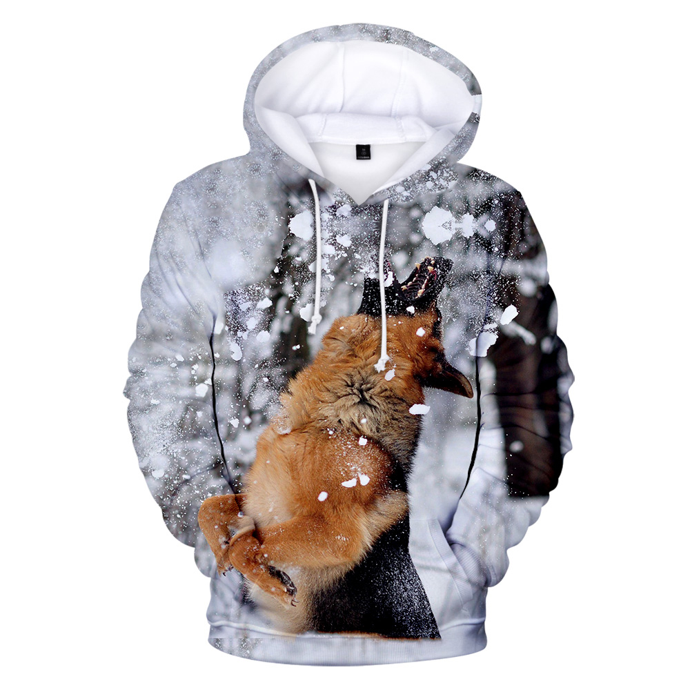 German Shepherd 3D Hoodies Men/women 2019 Aikooki Hot Sale Fashion Print Popular German Shepherd 3D Hoody Casual Tops