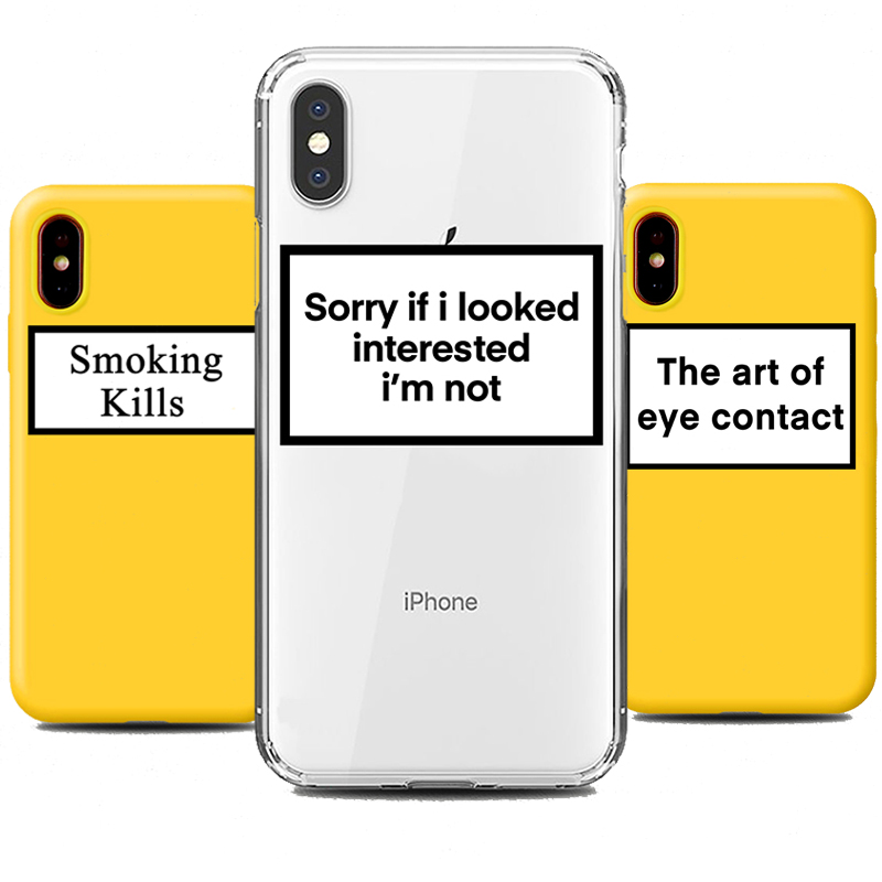Phone Case For IPhone 11 Pro 8 7 6s Plus X XS MAX XR Fitted Fashion Cool Letter Cases Soft Silicone TPU Back Covers Accessories