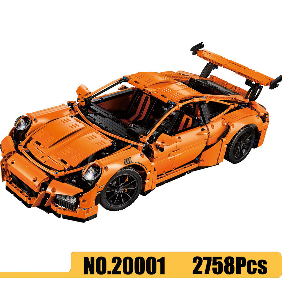 Technic Sports Car Series 20001 Race Car 911 GT3RS Model Building Blocks 2758Pcs Bricks Compatible 42056 Toys Kids Gift