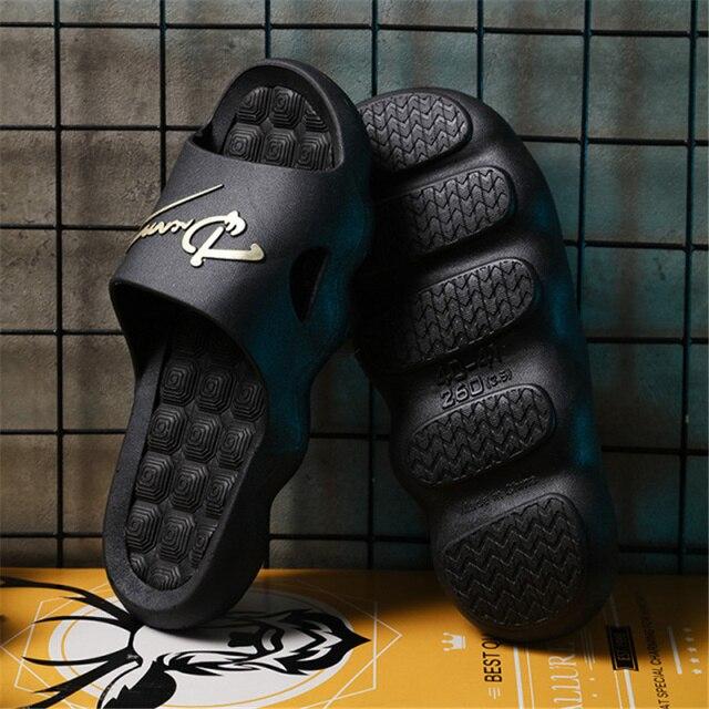 2021 Summer Non-slip Bathroom Slides Flops Couples Unisex Platform Slippers Home Men Slippers Simple Solid Color Shoes 6