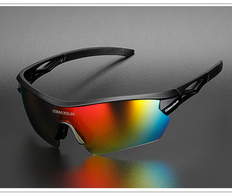 Hb5642d243fc549abb3082b3b49f18174m COMAXSUN Professional Polarized Cycling Glasses Bike Goggles Outdoor Sports Bicycle Sunglasses UV 400 With 5 Lens TR90 2 Style