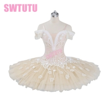 Champagne flower fairy professional ballet tutu women classical with velet adult costumesBT9073