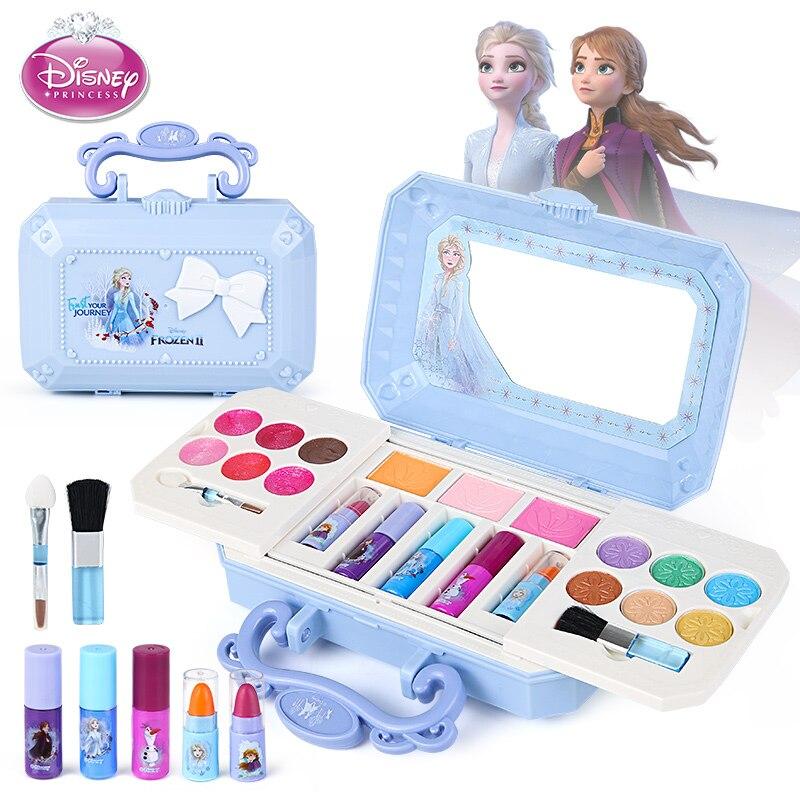 Disney frozen 2 elsa anna princesa bonito conjuntos de maquiagem caixa bonito princesa meninas presentes de aniversário beleza brinquedos