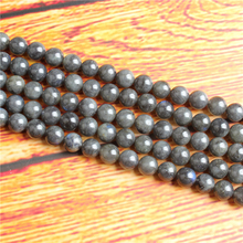Glitter Stonea Natural Stone Bead Round Loose Spaced Beads 15 Inch Strand 4/6/8 / 10mm For Jewelry Making DIY Bracelet Necklace
