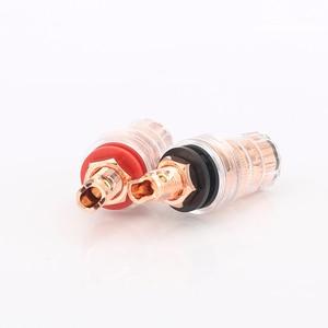 Image 4 - Audiocrast 4pcs High quality pure copper 99.998% Binding posts audio speaker terminal