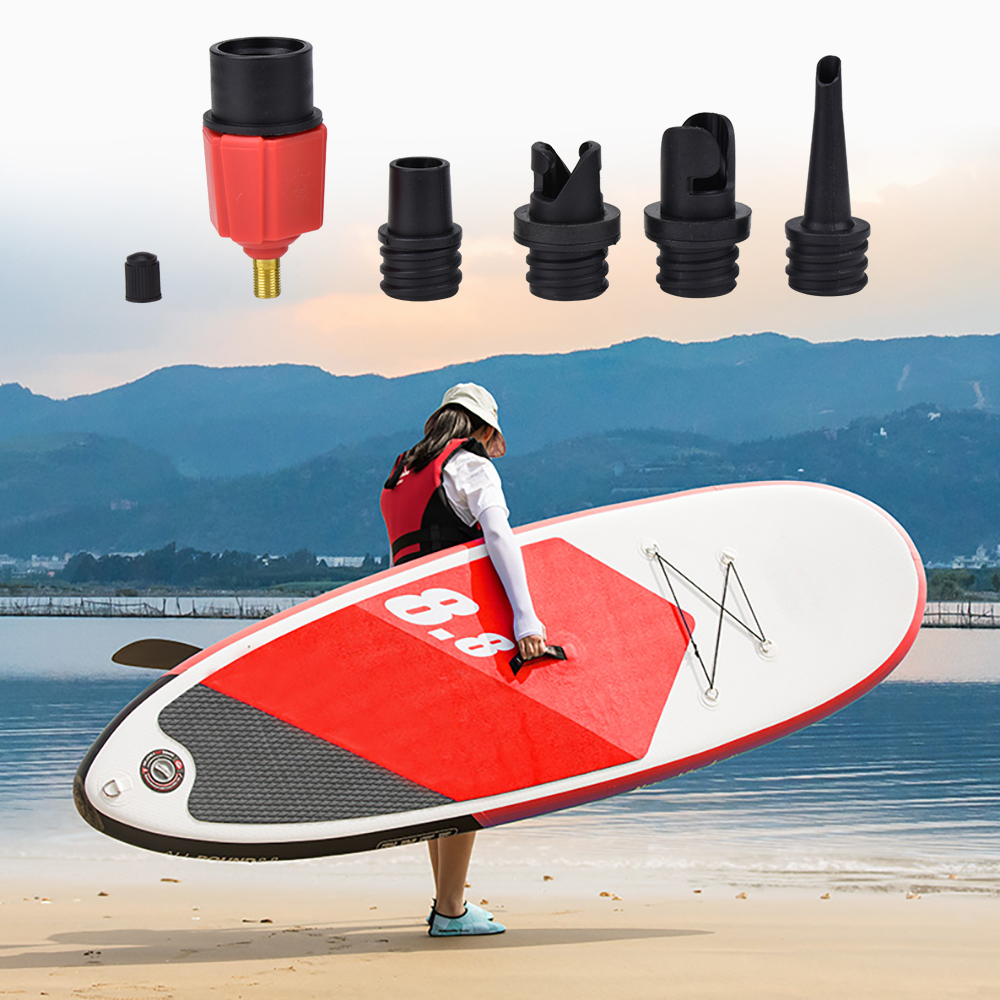 Inflatable Rowing Boat Air Valve Adaptor Inflatable Bed Pool Row Adapter Board Stand Paddle Kayak Surfing Pump Boat Accessories