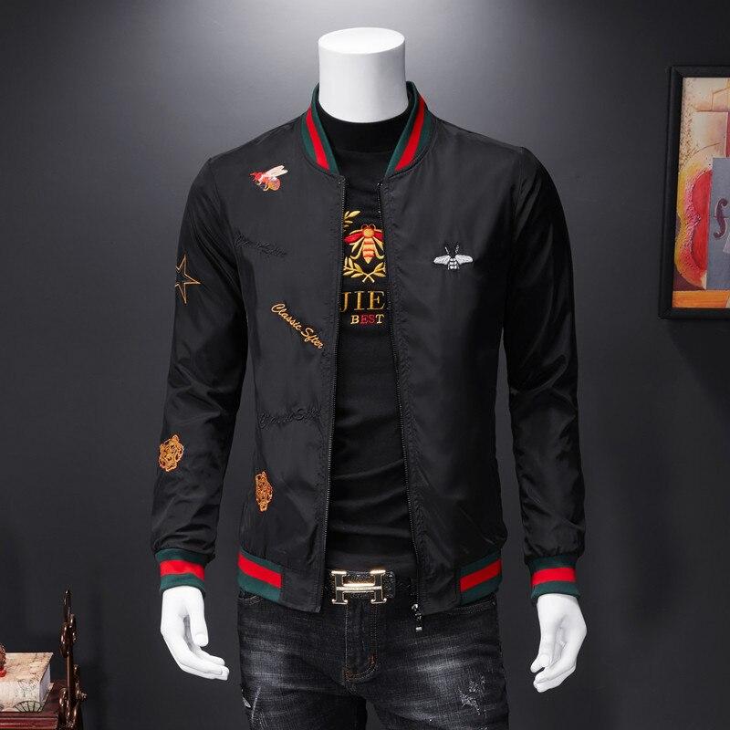 Men Bomber Jacket Thin Slim Long Sleeve baseball Jackets Windbreaker Zipper Windbreaker Jacket Male Outwear Brand Clothing Y278 1