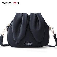 WEICHEN sevimli tavşan tasarım kadınlar için Crossbody çanta yumuşak deri bayanlar Messenger omuz çantaları Bolsa Sac kadın çanta