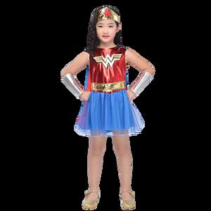 Image 3 - Dawn Of Justice Child Wonder Women Costume Supergirl Batgirl Robin Little Girls Superhero Fancy Dress Halloween Carnival Party