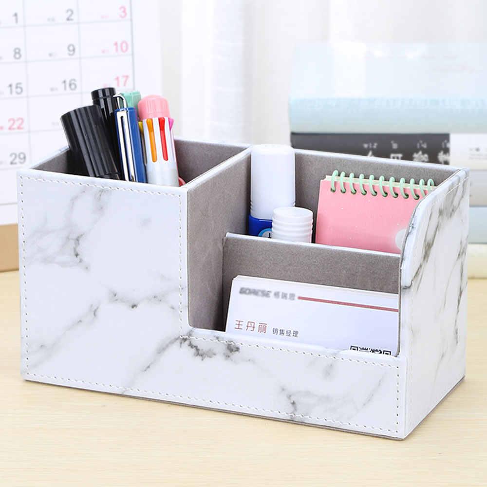 متعددة الوظائف بو الجلود منظم مكتب جديد وصول صندوق تخزين مكتبي القلم/حامل القلم الرصاص مكتب الملحقات