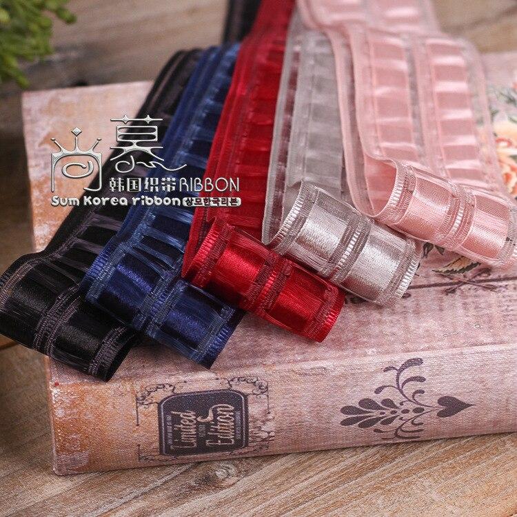 100yards 16 25 38mm grosgrain edge tassel satin plaid ribbon for hair bow diy accessories garment underwear bra accessories in Ribbons from Home Garden