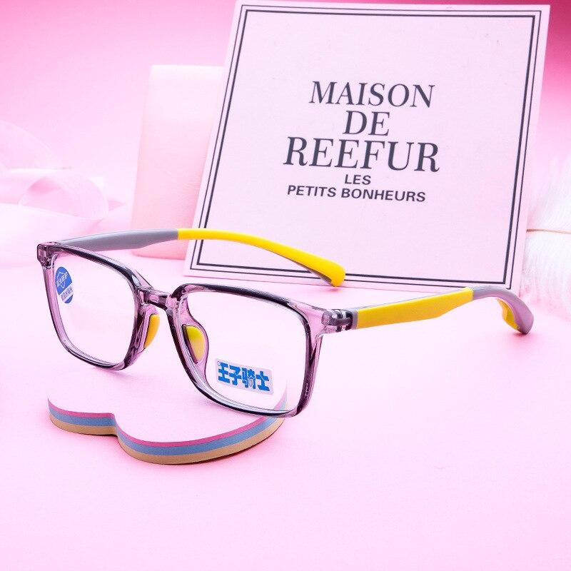 New TR-90 Boys Girls Glasses Frames Small Square Children's Optical Eyewear Anti Blue Light Spectacles Kids Myopia Eyeglasses