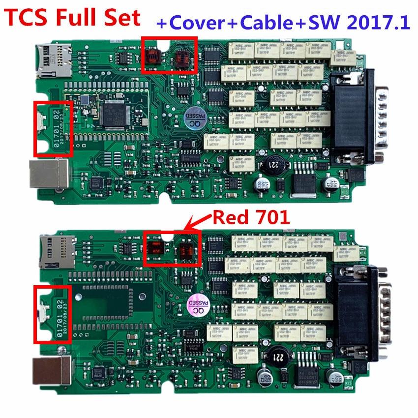 Full Set  A+ Quality Red 701 OBDIICAT TCS PRO Green Relays Single PCB Board Multidiag MVD New Vci With BT 2016R1+Keygen/2017.1