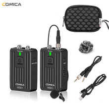 Wireless Lavalier Microphone, Comica WD01 2.4G Microphone System for Canon Nikon Sony Panasonic DSLR Cameras Smartphone