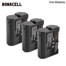 Bonacell 2800mAh EN-EL15 ENEL15 EN EL15 Camera Battery For Nikon DSLR D600 D610 D800 D800E D810 D7000 D7100 D7200 L50 bonacell 2800mah en el15 enel15 en el15 camera battery lcd charger for nikon dslr d600 d610 d800 d800e d810 d7000 d7100 l50