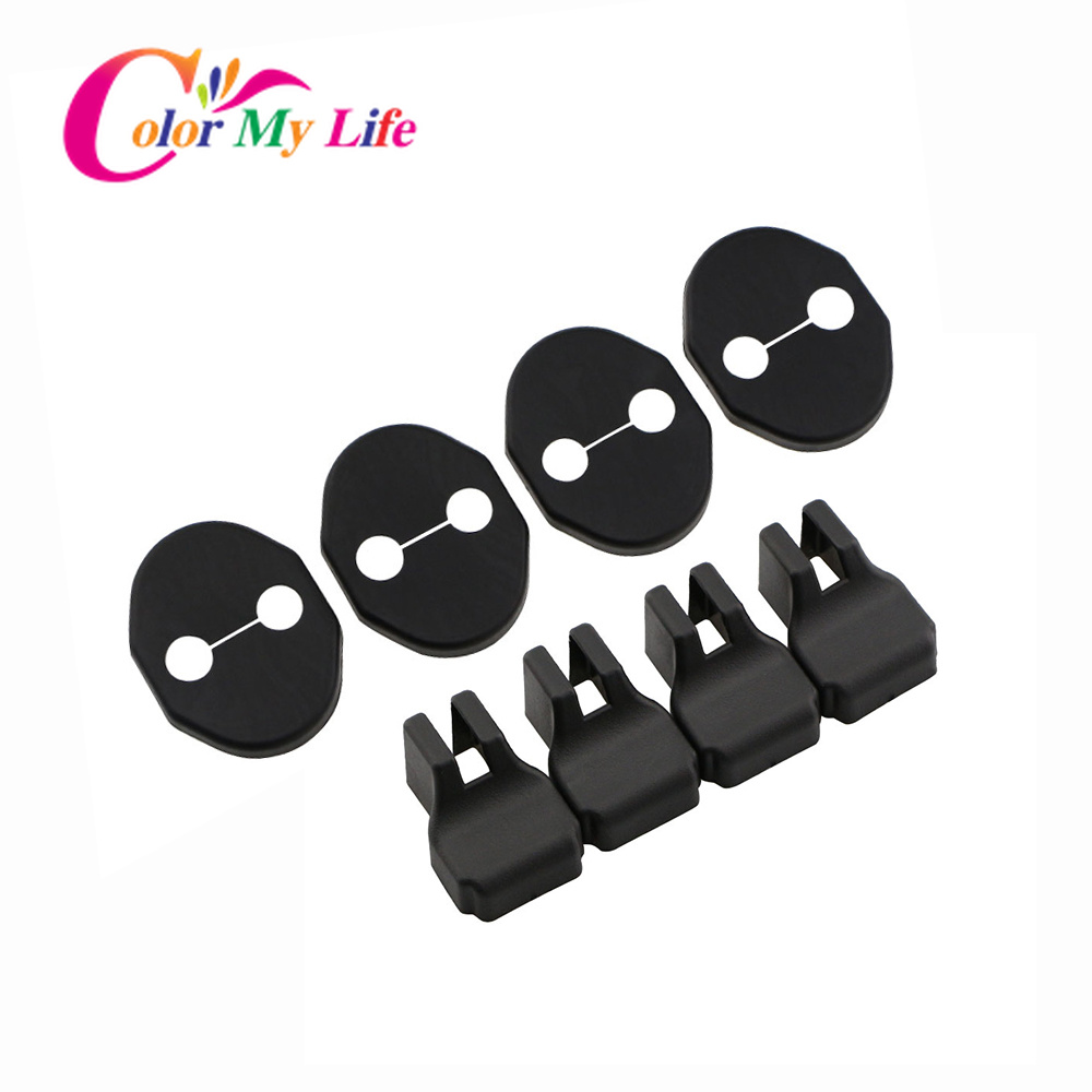 Color My Life ABS Car Door Lock Cover Car Door Stopper Protection Covers For Mazda 2 5 6 For Mazda CX-5 MX-5 Accessories
