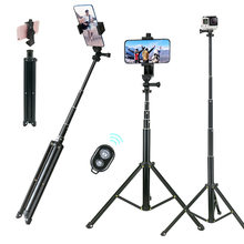 "Lightweight Selfie Stick Tripod Stand 51"" Extendable Phone Mount Stand Wireless Remote For iPhone 11 Pro XR Gopro Digtal Camera(China)"